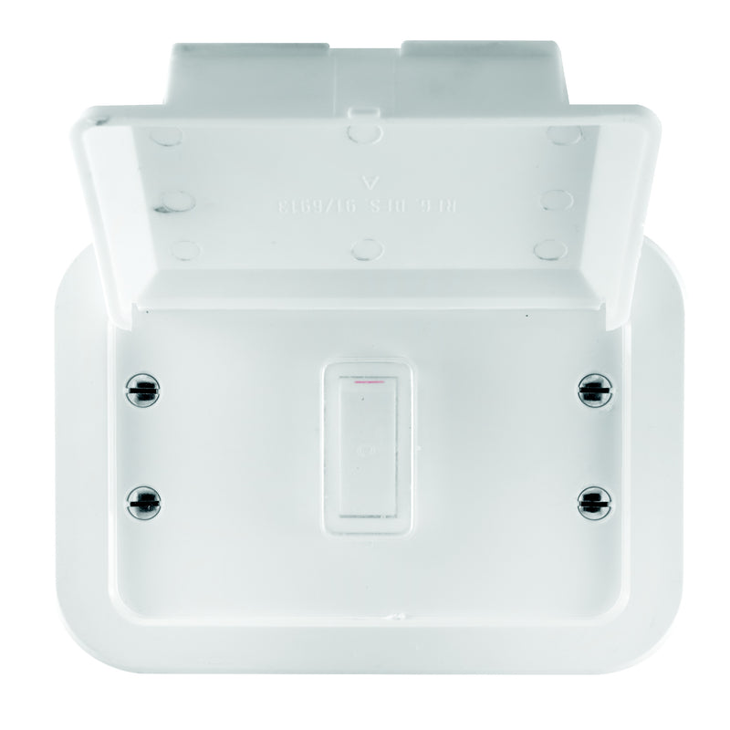 CRABTREE INDUSTRIAL 1 LEVER 2 WAY METAL SURFACE BOX