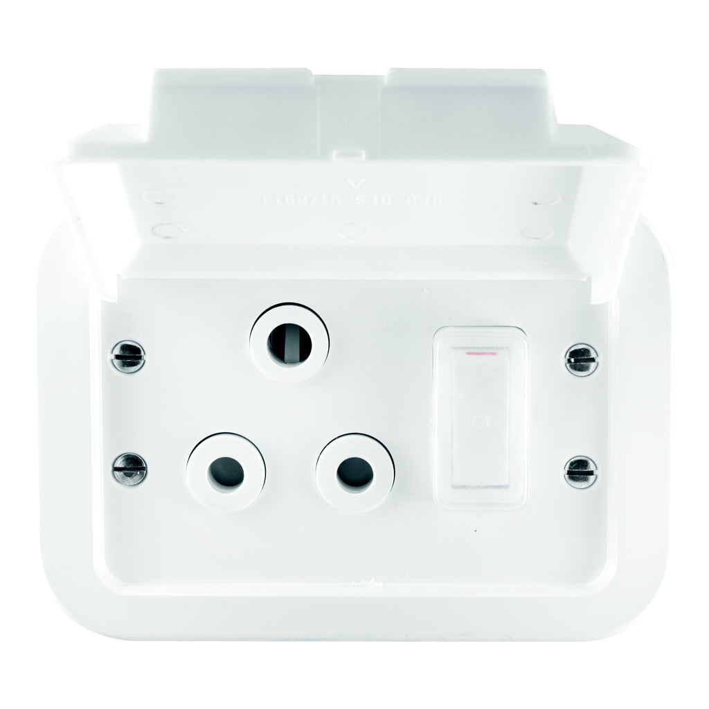 CRABTREE INDUSTRIAL SINGLE SOCKET PLASTIC SURFACE BOX