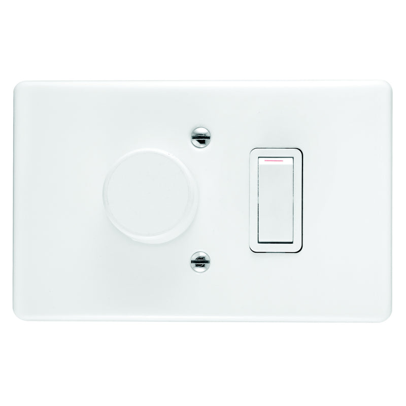 CRABTREE CLASSIC DIMMER SWITCH 1 LEVER + COVER 4X2 600W