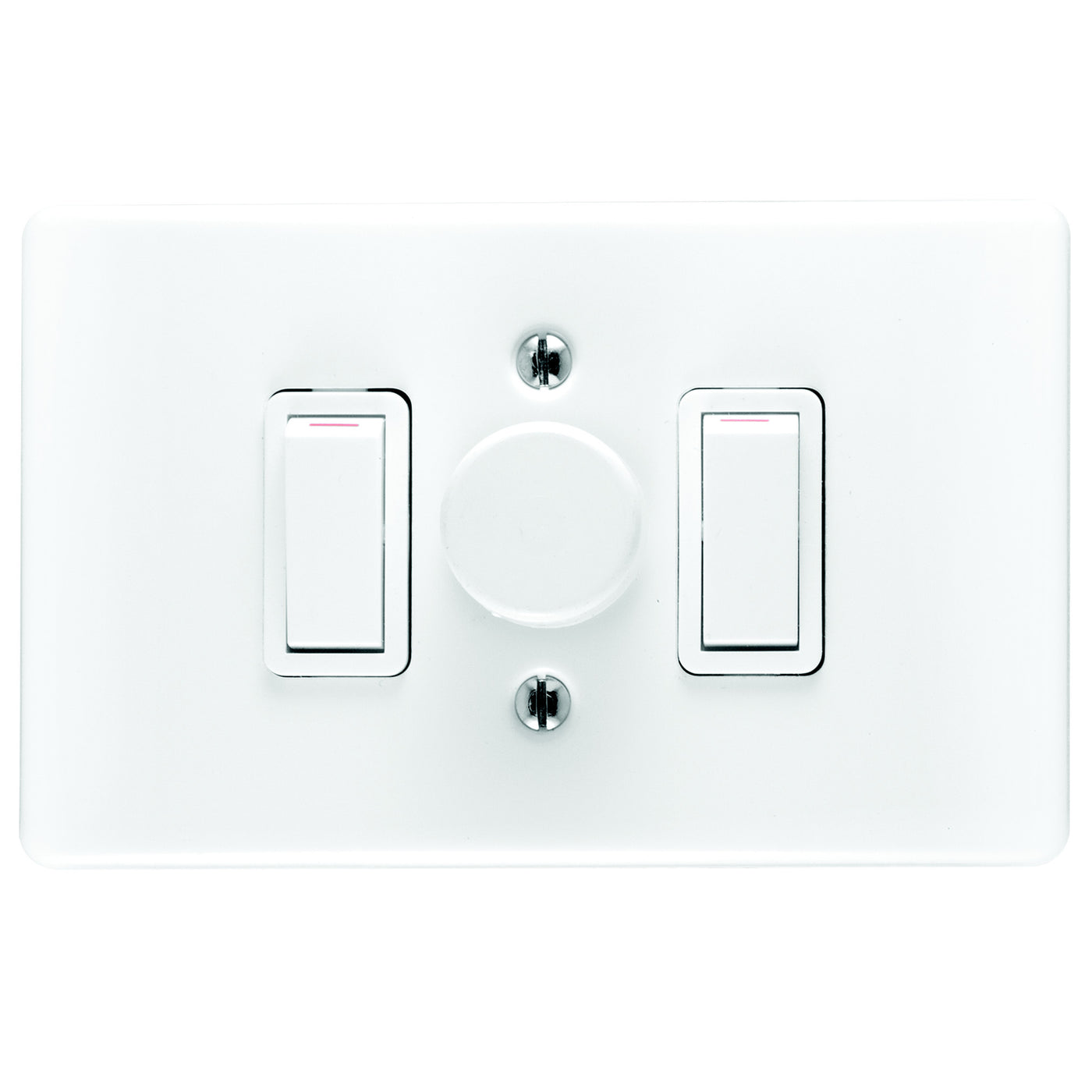 CRABTREE CLASSIC DIMMER SWITCH 2 LEVER COVER 4X2 600W