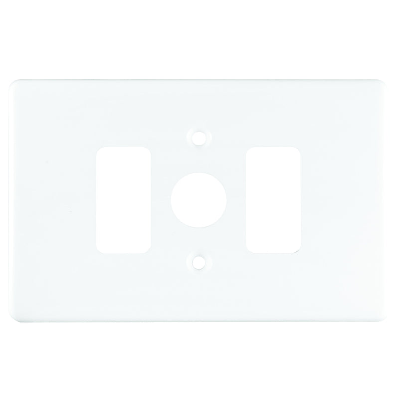 CRABTREE CLASSIC 2 LEVER DIMMER COVERPLATE STEEL 4X2