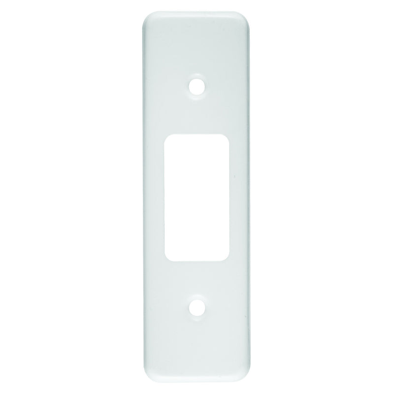CRABTREE CLASSIC 1 LEVER ARCHITRAVE COVERPLATE STEEL