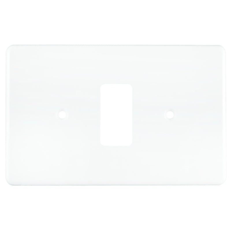 CRABTREE CLASSIC 1 LEVER COVERPLATE PLASTIC 4X2- HORIZONTAL