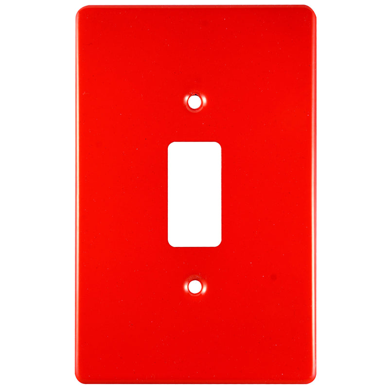 CRABTREE CLASSIC 1 LEVER COVERPLATE STEEL 4X2