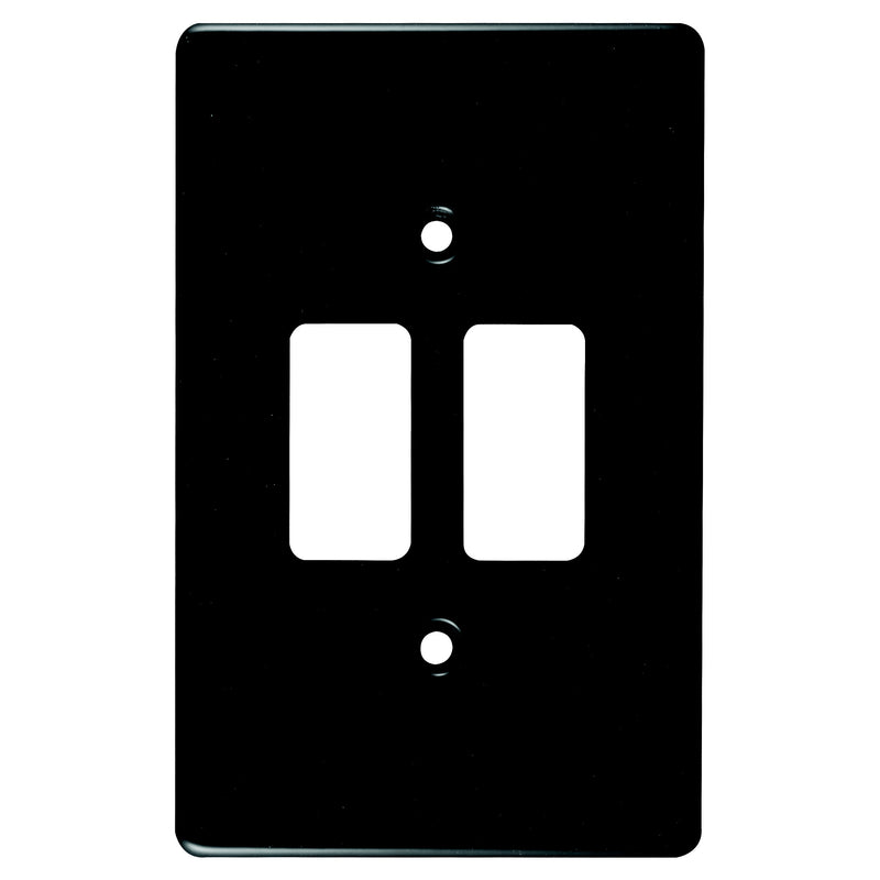 CRABTREE CLASSIC 2 LEVER COVERPLATE STEEL 4X2