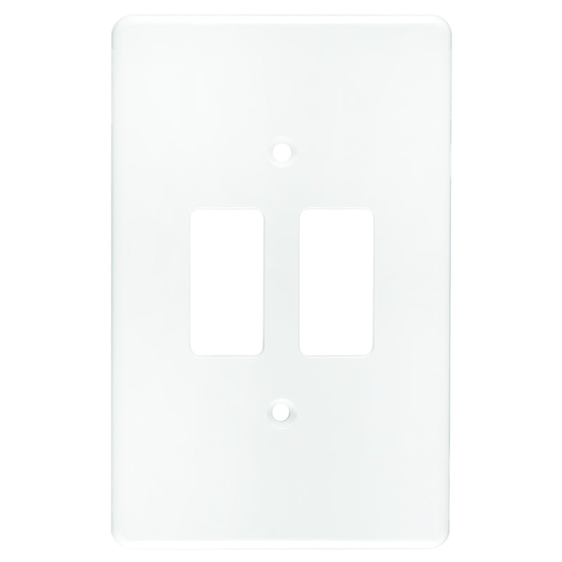 CRABTREE CLASSIC 2 LEVER COVERPLATE PLASTIC 4X2