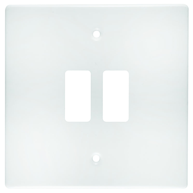 CRABTREE CLASSIC 2 LEVER COVERPLATE STEEL 4X4