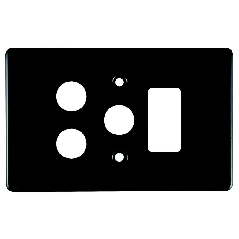 CRABTREE CLASSIC SINGLE SOCKET COVERPLATE STEEL 4X2- VERTICAL