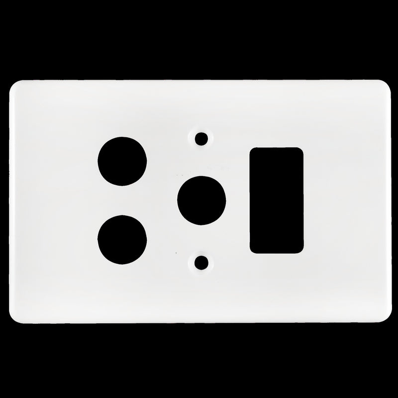 CRABTREE CLASSIC SINGLE SOCKET COVERPLATE PLASTIC 4X2- VERTICAL