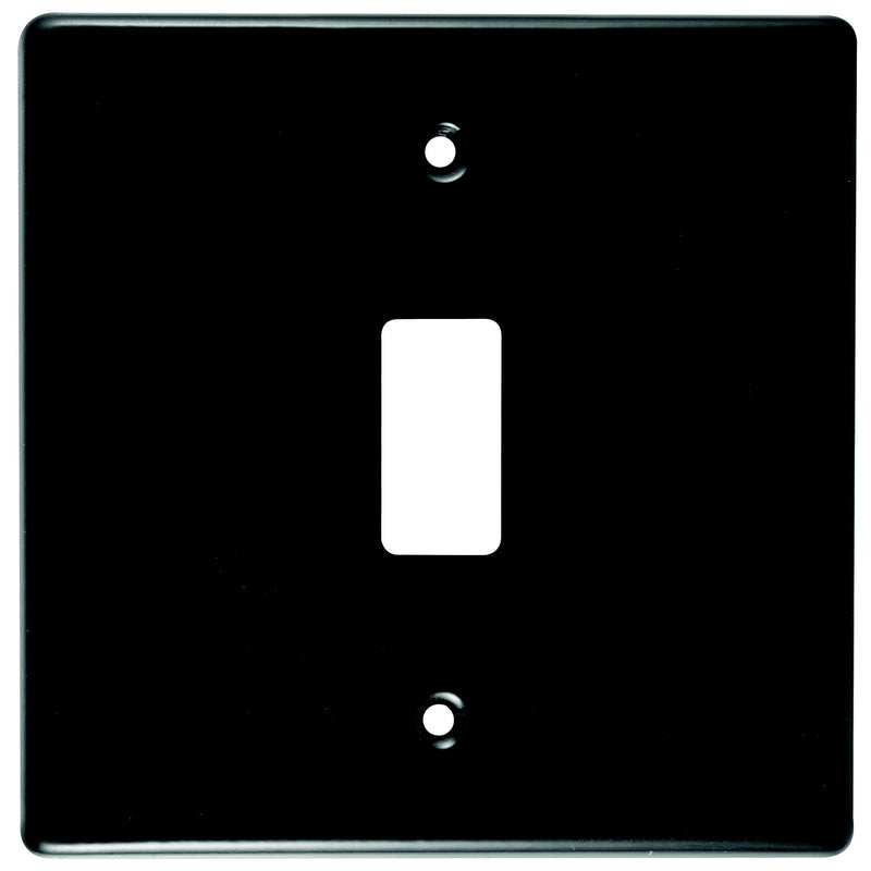 CRABTREE CLASSIC 1 LEVER COVERPLATE STEEL 4X4