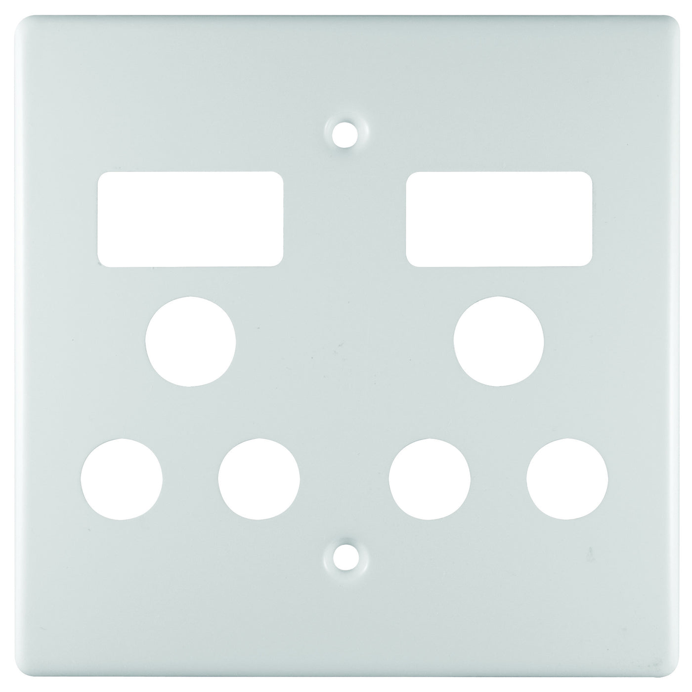 Plastic Switch Plate Covers Custom Crabtree Classic Double Socket Coverplate Plastic 4X4  Dynamic Design Inspiration