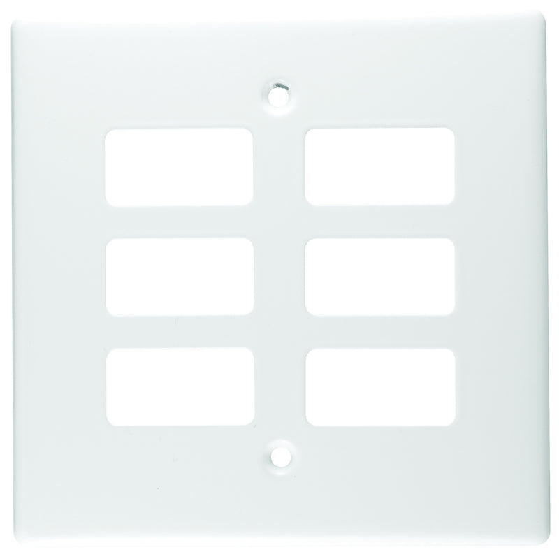 CRABTREE CLASSIC 6 LEVER COVERPLATE STEEL 4X4