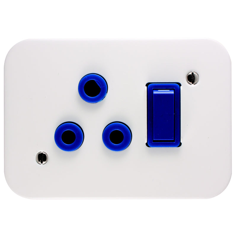 CRABTREE INDUSTRIAL 16A DEDICATED SINGLE SOCKET + COVER 75X83