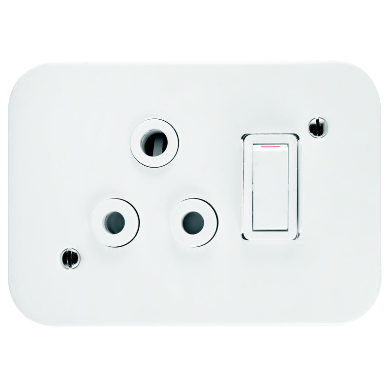 CRABTREE INDUSTRIAL 16A SINGLE SOCKET + COVER 75X83