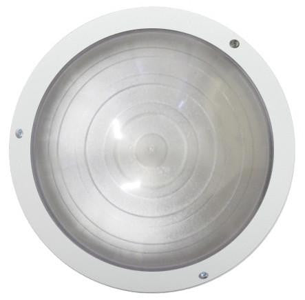 OGATIN ROUND BULKHEADS LED WHITE TRIM CLEAR LENS