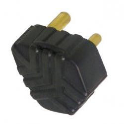 PLUG TOP RUBBER 3 PIN 16A BLACK