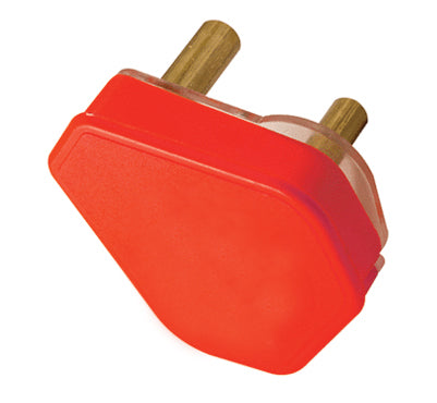 PLUG TOP 3 PIN 16A RED