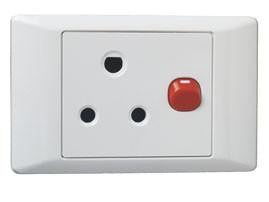 SCHNEIDER S2000 16A RED DEDICATED HORIZONTAL SWITCHED SOCKET + COVER 4X2