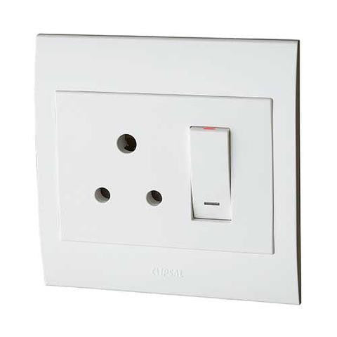 SCHNEIDER S3000 SINGLE SWITCH SOCKET + COVER 4X4