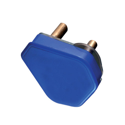 PLUG TOP 3 PIN 16A BLUE