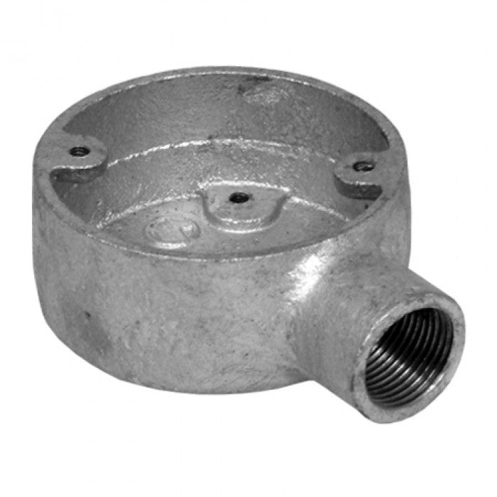 STEEL GALVANISED 20MM X 1 WAY CONDUIT BOX