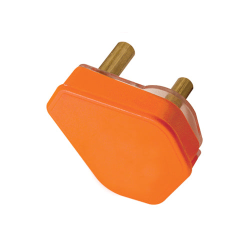 PLUG TOP 3 PIN 16A ORANGE