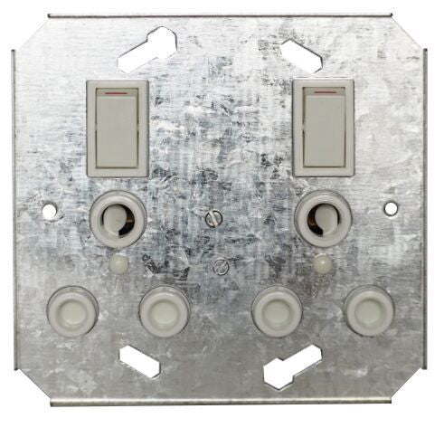TITAN 16A DOUBLE SWITCH SOCKET + YOKE 4X4