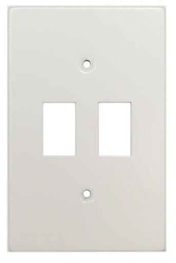 TITAN 2 LEVER STEEL COVER PLATE 4X2
