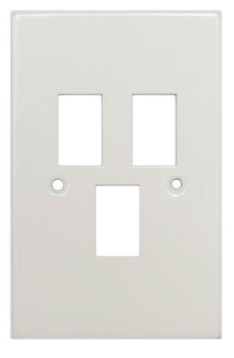 TITAN 3 LEVER STEEL COVER PLATE 4X2