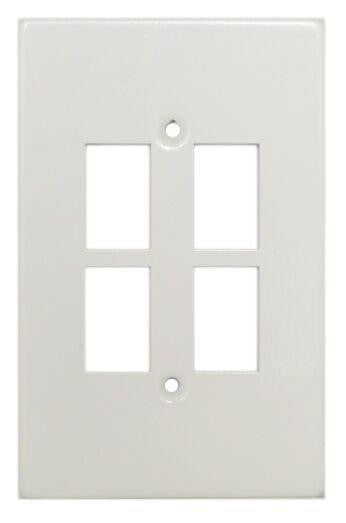 TITAN 4 LEVER STEEL COVER PLATE 4X2