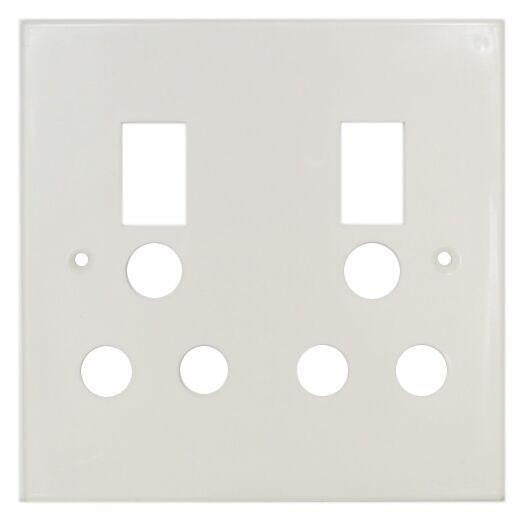 TITAN DOUBLE SWITCH SOCKET PLASTIC COVER PLATE 4X4