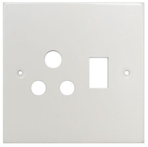 TITAN SINGLE SWITCH SOCKET STEEL COVER PLATE 4X2