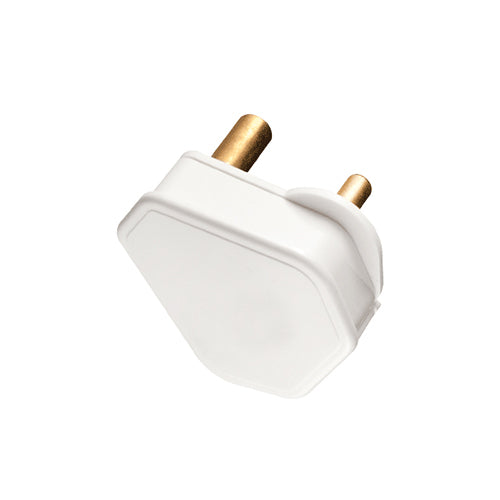 PLUG TOP 3 PIN 6A WHITE