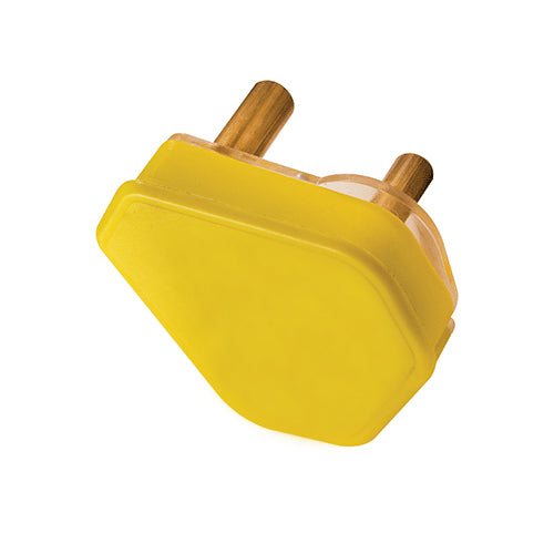 PLUG TOP 3 PIN 16A YELLOW