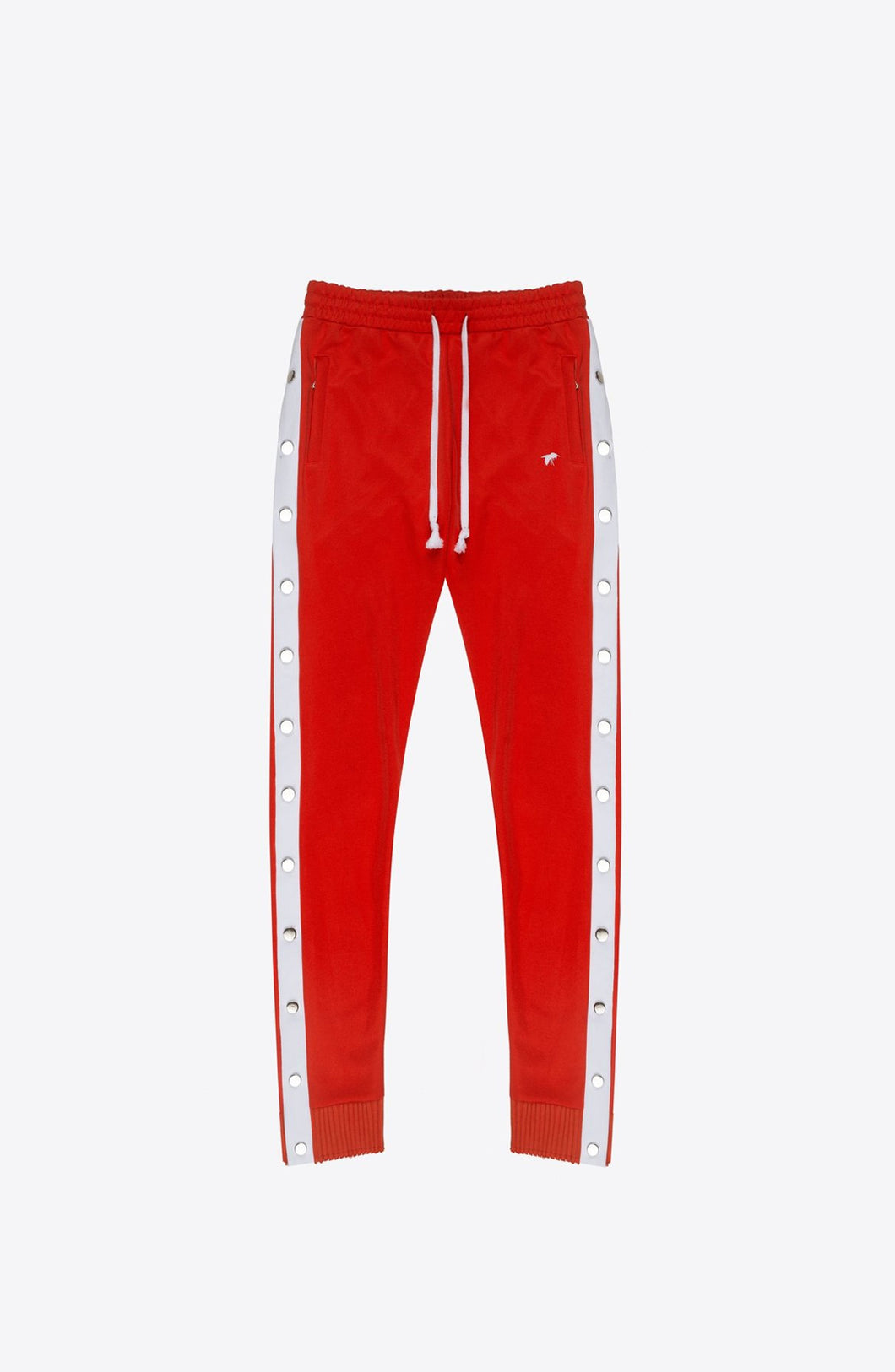 RED SNAP TRACK PANTS