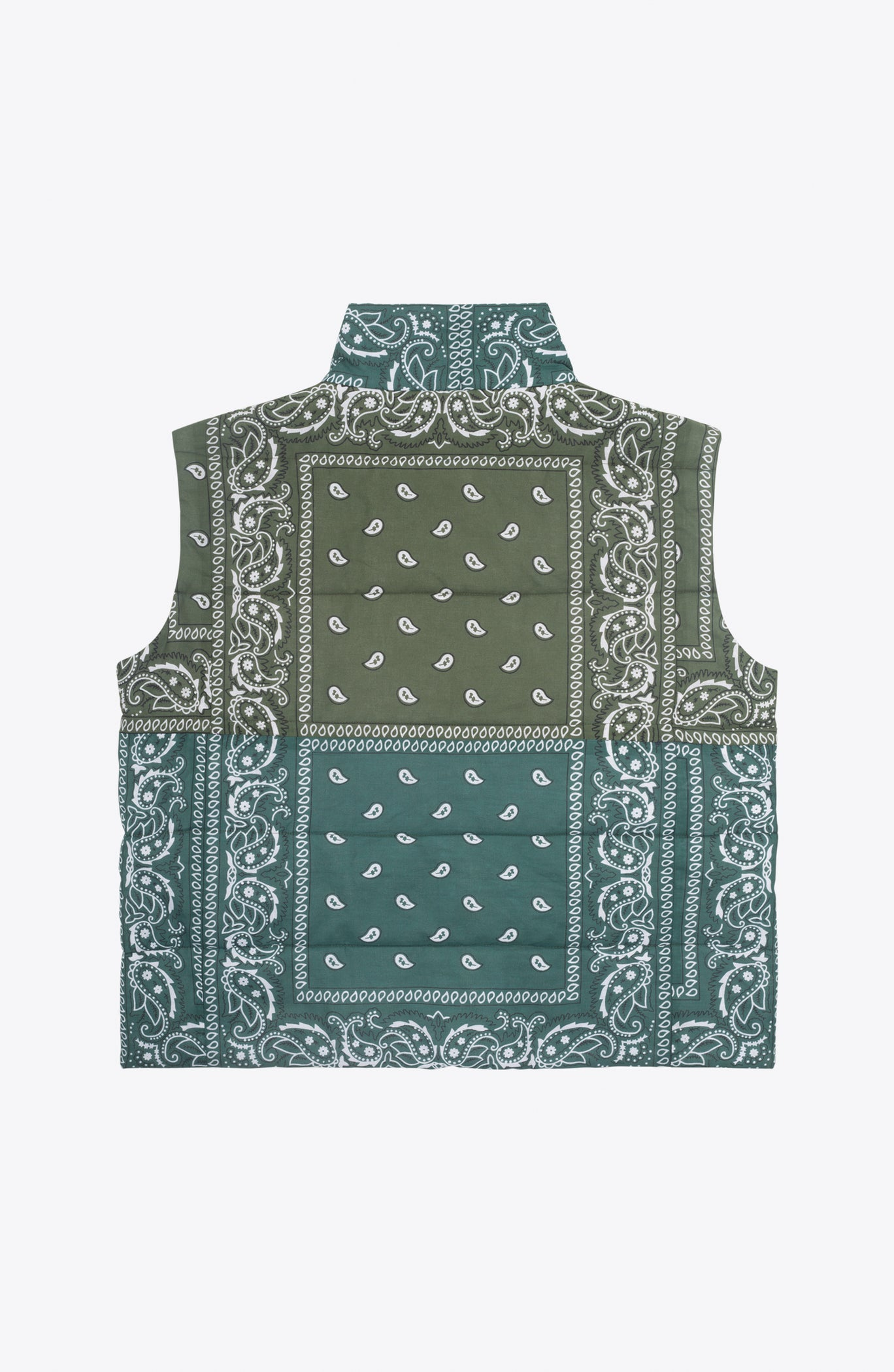 Green bandanas down vest