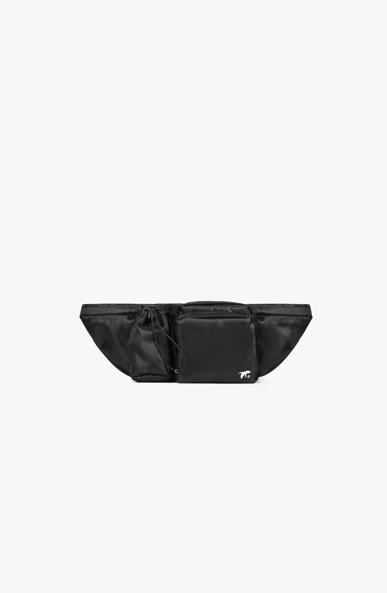 black tactical waist bag
