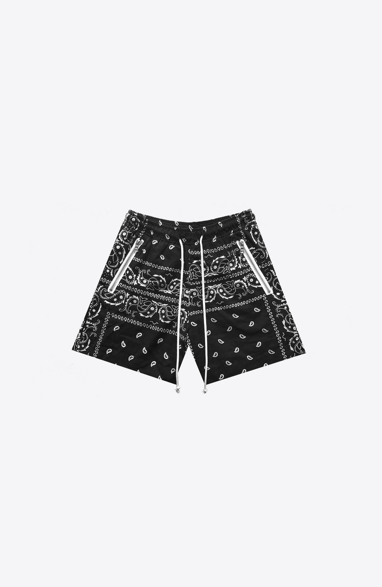 BLACK BANDANA SHORT