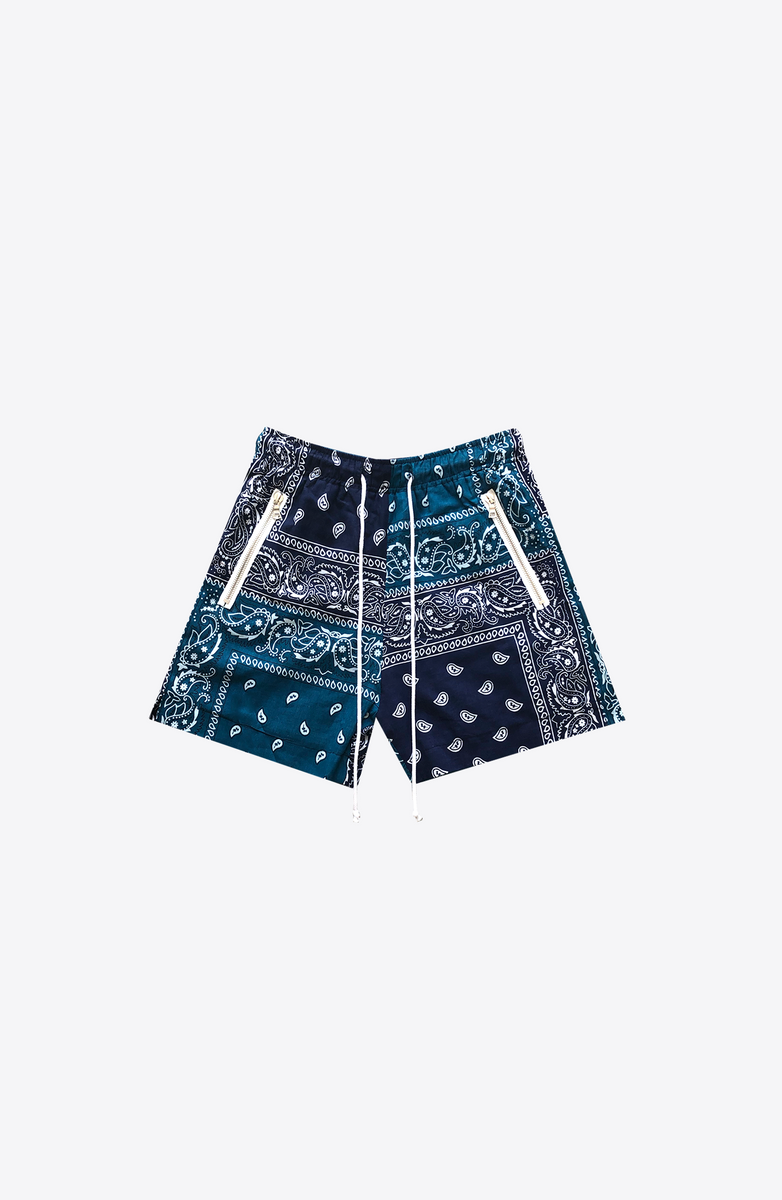 BLUE BANDANA RUNNING SHORT