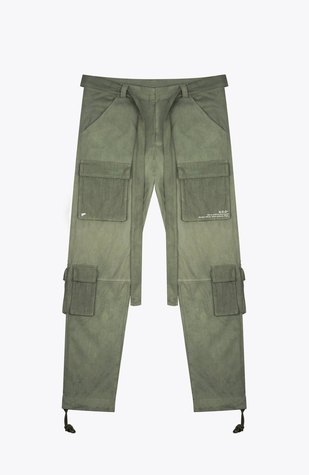 front pocket cargo pants - army green
