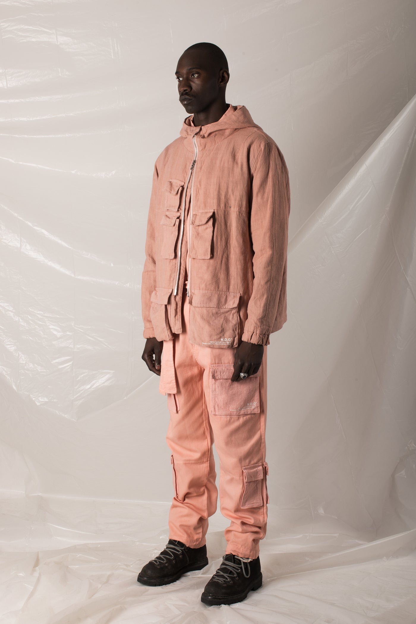 front pocket cargo pants - salmon