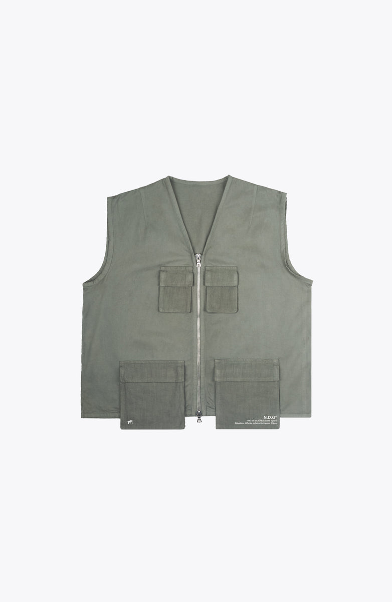 escape utility vest - army green