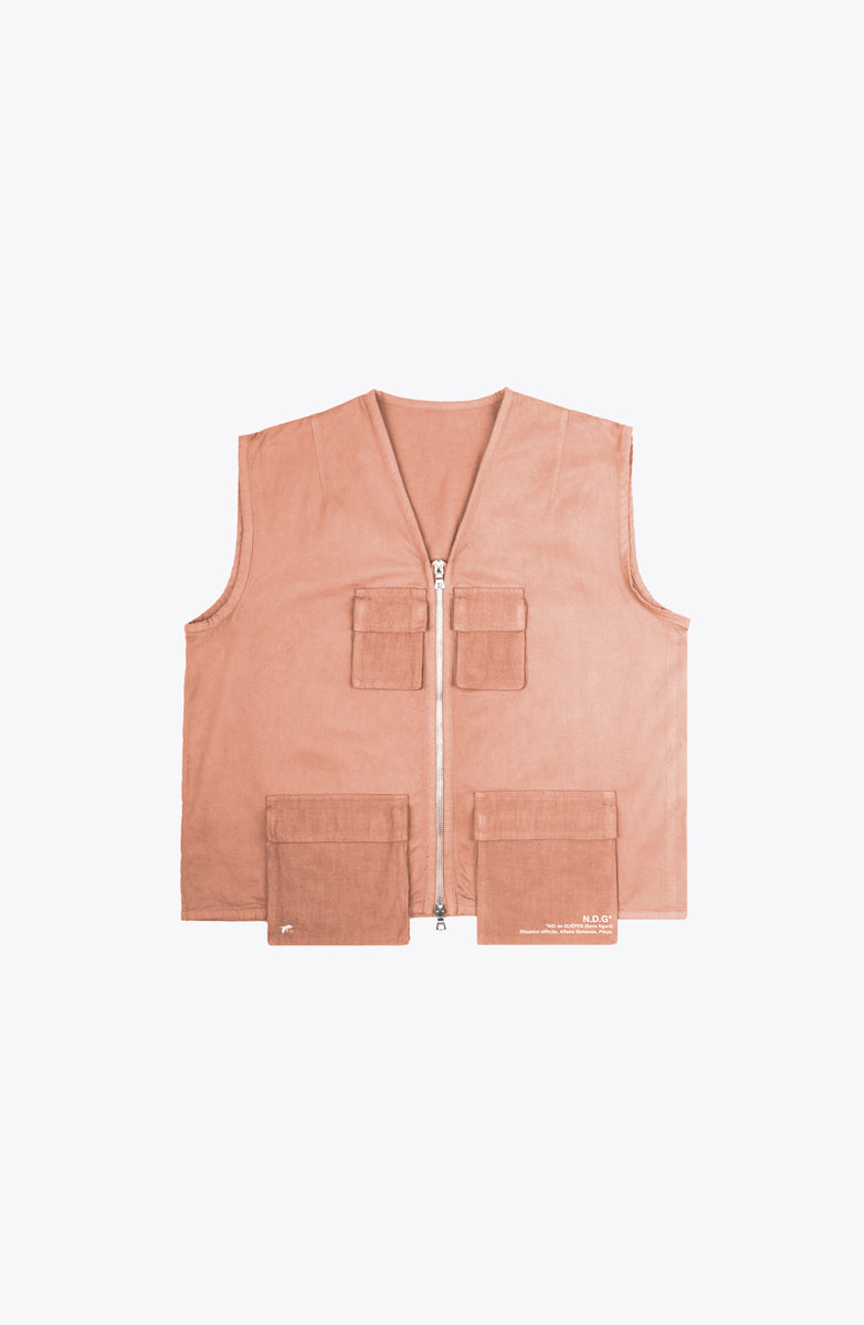 escape utility vest - salmon