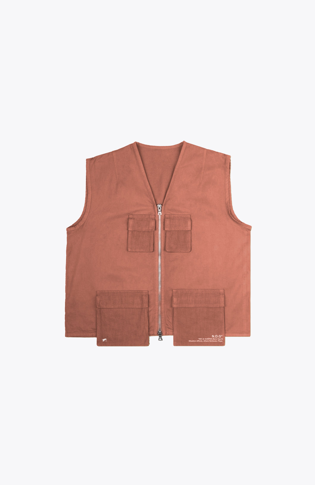 escape utility vest - rust