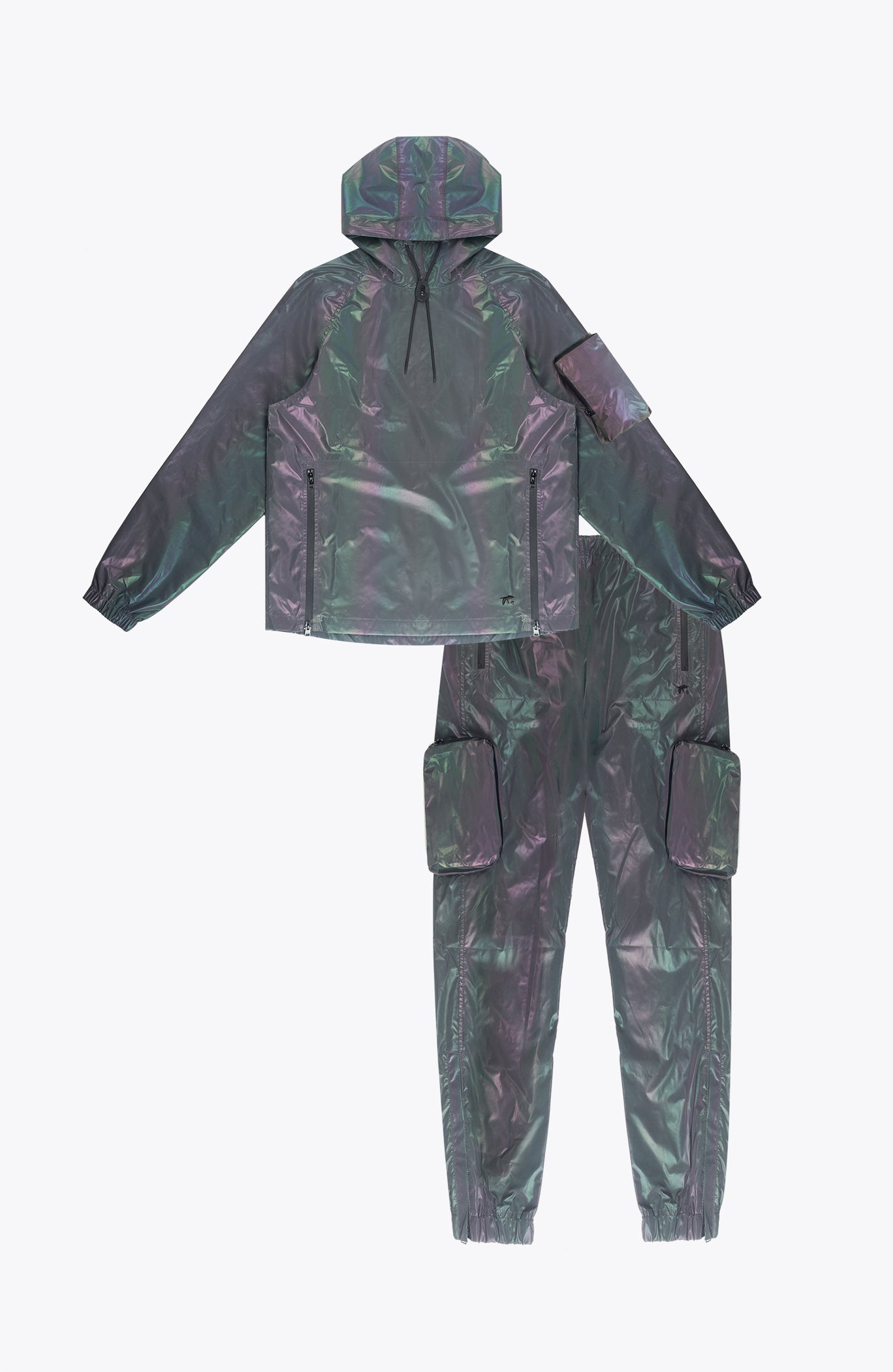 iridescent NYLON cargo set