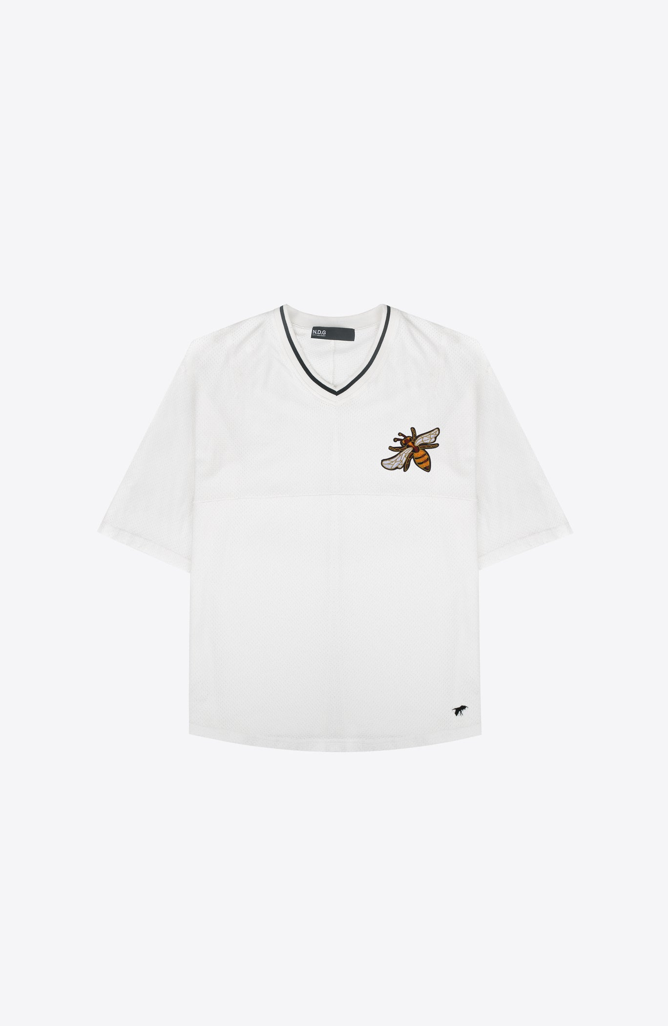 GUEPES WHITE HOCKEY TEE