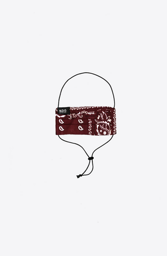Bordeaux PAISLEY ADJUSTABLE MASK