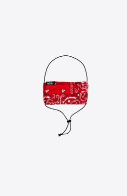 RED PAISLEY ADJUSTABLE MASK