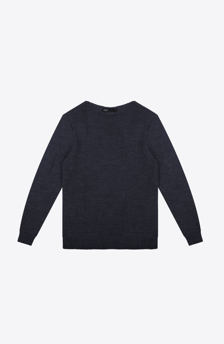 MARINE BLUE KNIT CREW