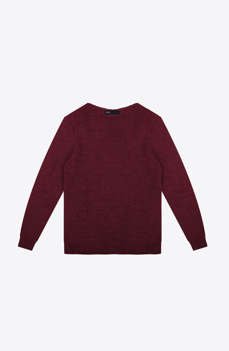 BORDEAUX KNIT CREW